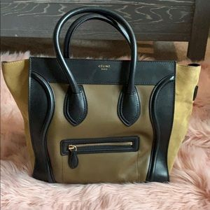 Celine Mini Luggage Bag- Rare Color and Suede